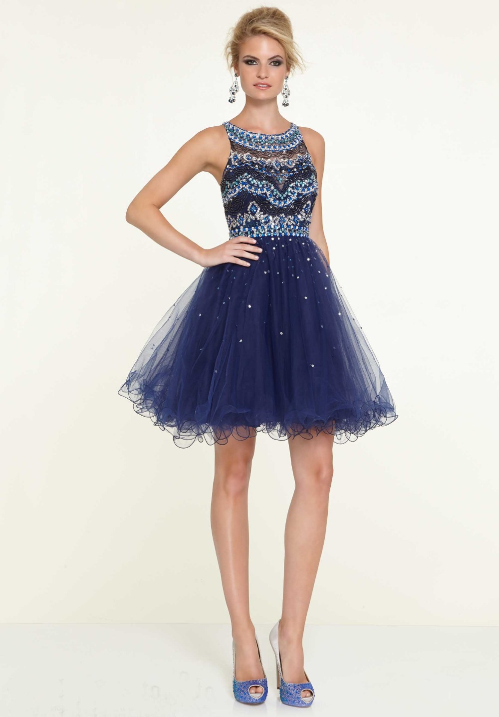 Short Navy Blue Dresses