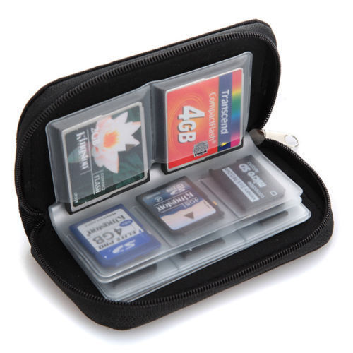 22 Slots SD SDHC MMC CF Micro SD Memory Card Bag Storage Carrying Pouch Case Holder Wallet(China (Mainland))