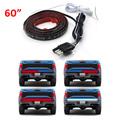 60 Flexible 5 Function Red White LED Light Strip Tailgate Bar Backup Reverse Brake Tail Turn