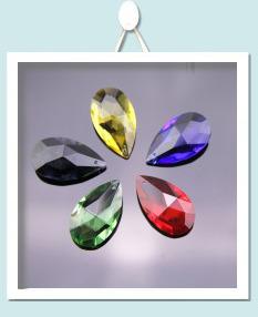 100pcs 14mm Crystal Glass Octagon Beads 2 Holes Chandelier Parts Lighting Prism Suncatcher Beads Curtain Home Wedding Decor