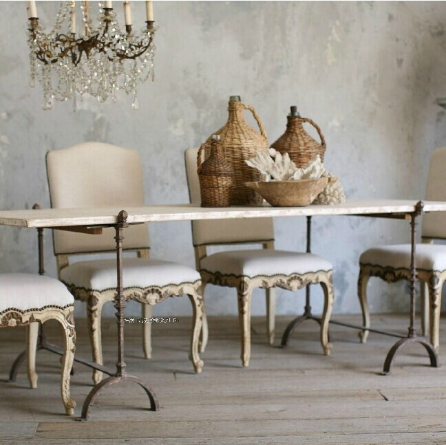Continental rectangular wood tables wood dining tables and chairs combination of small size, wrought iron wood tables(China (Mainland))