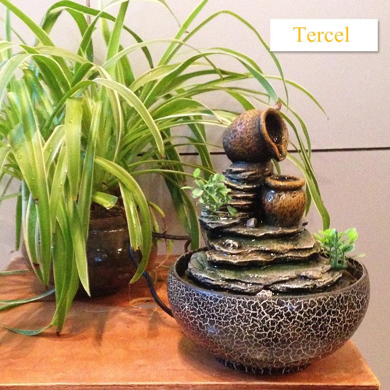 Compra decorativas fuentes de agua interiores online al por mayor de china mayoristas de - Fuentes para interior ...