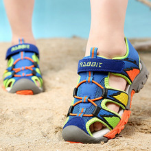 Summer new style Children shoes boys fashion cut-outs sandals  kids  canvas  rain  sandals  breatherable   flats shoes(China (Mainland))