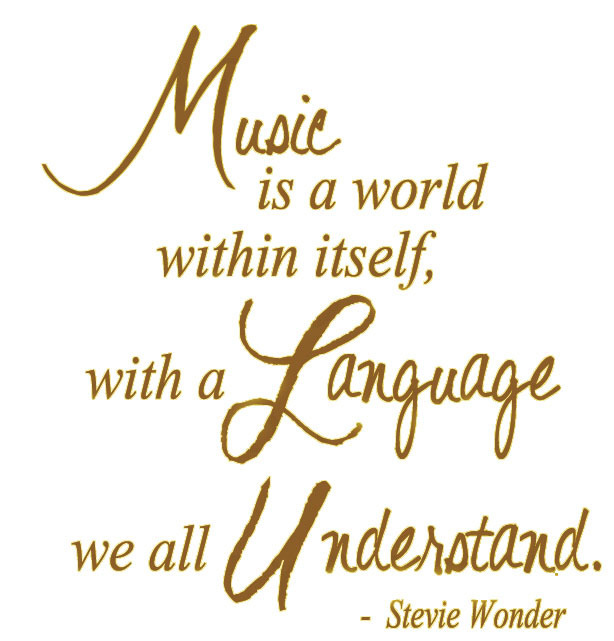 Music Is A World Within Itself, With A Language We All Understand. - Stevie Wonder Vinyl Wall Quote For Home(China (Mainland))