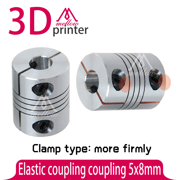 Clamp Type More Firmly 3D Printer accessories elastic coupling 5x8mm Z AxisConnector Two Size Shafts Together