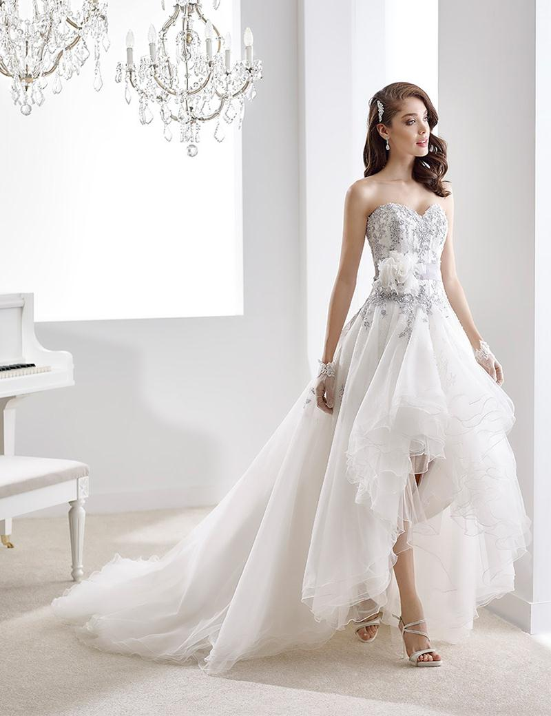 High low wedding dresses sweetheart lace appliques flower for High low sweetheart wedding dress
