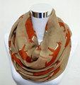 Free shipping New Design fashion animal print scarf Hot sale winter fox scarf big size 180