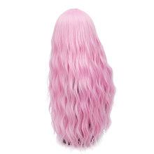 MSIWIGS 70 CM Uzun Pembe Dalgalı Peruk Cosplay Doğal Sentetik kadın Sarışın Peruk 29 Renkler Isıya Dayanıklı Saç(China)
