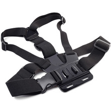 Go Pro Adjustable Chest Body Tripod Harness Belt Strap Mount Black For Gopro Hero 4 3+2 Sj4000 Xiaomi Yi Camera Accessories GP27