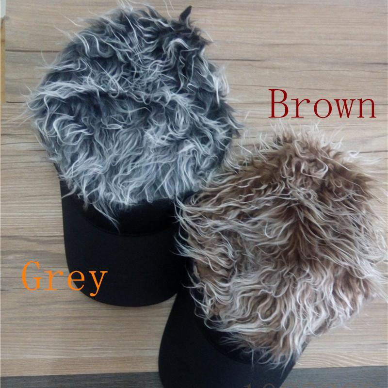 Lgf 1502231 store OEM men adults fans FAke Flair Hair Black Hair Visor hat vlecro adjustable(China (Mainland))