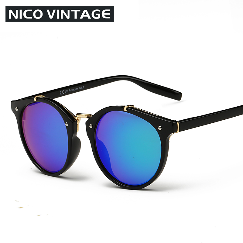 Vintage Round Sunglasses Women Fashion Designer Eyewear UV400 Gradient Female Retro Sun Glasses Brand Points Sun