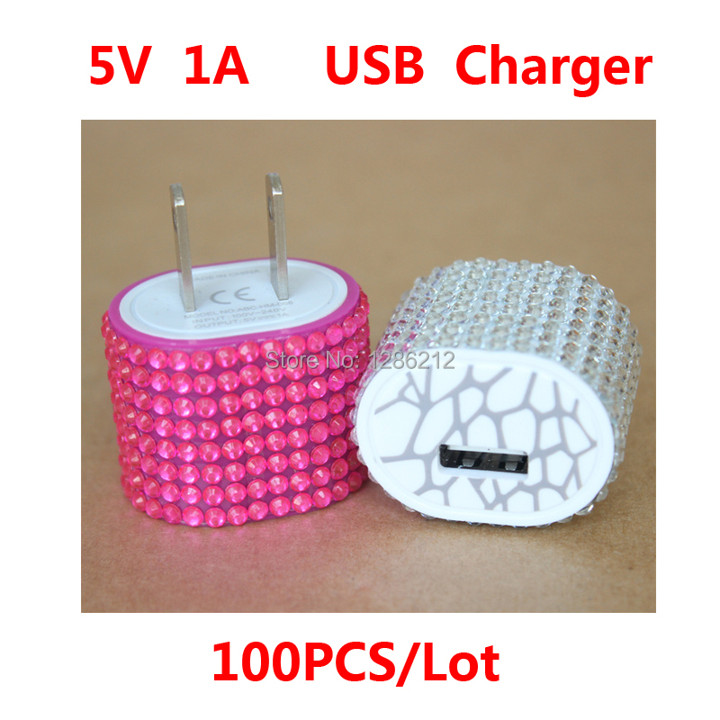 100pcs/lot USB Universal Charger Adapter For Iphone 4 4S 5 5C 5S for Samsung i9000 i9200 T889 S5830 Cargador Chargeur Carregador