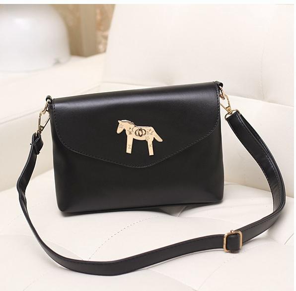 Caliente venta pequeños caballos mujeres bolsos de cuero cruzada cuerpo hombro bolsos moda mujeres mensajero bolsas