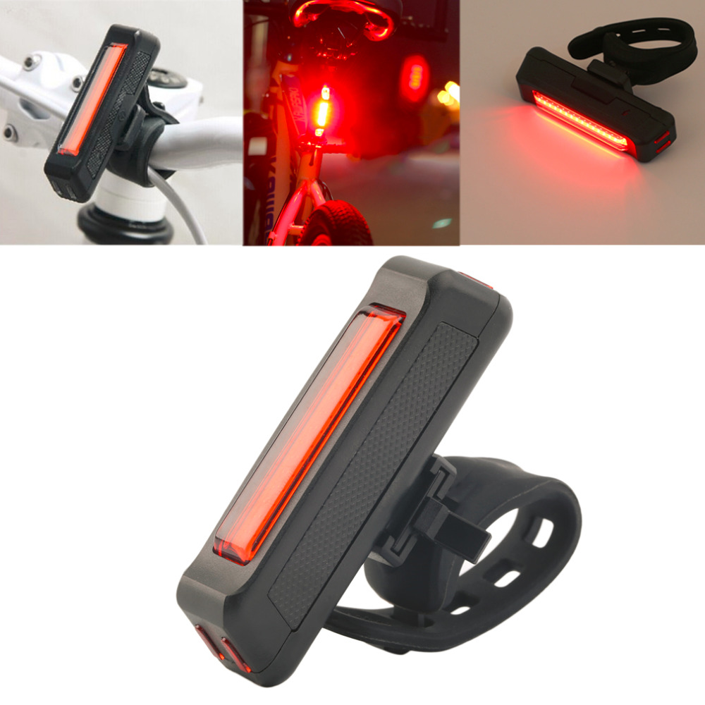 USB Rechargeable Bike Bicycle Light Rear Back Safety Tail Light Red New free shipping