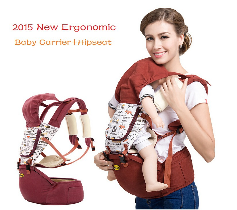 2015 Hot canguru baby carrier+Hipseat backpack Cotton+Polyester portabebe ergonomic baby carriers backpacks sling for 0-36m bebe