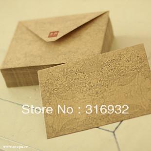 Simple kraft paper gift envelope,100pcs/lot