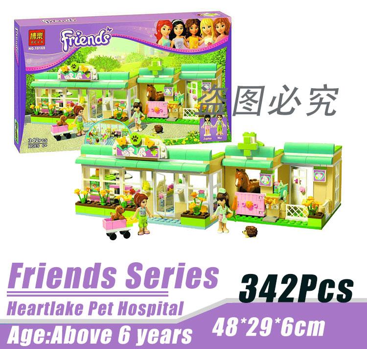 Bela 10169 Friends Series Pet Hospital Minifigure Building Block 342Pcs Bricks Toys Compatible With Lego<br><br>Aliexpress