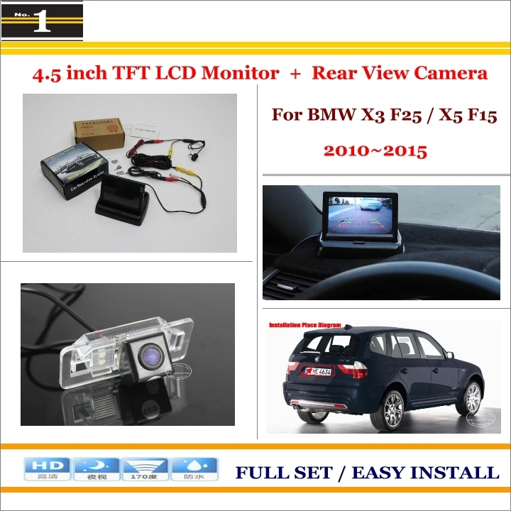 """For BMW X3 F25 / X5 F15 - Car Reverse Backup Rear Camera + 4.3"""" TFT LCD Screen Monitor = 2 in 1 Rearview Parking System(China (Mainland))"""