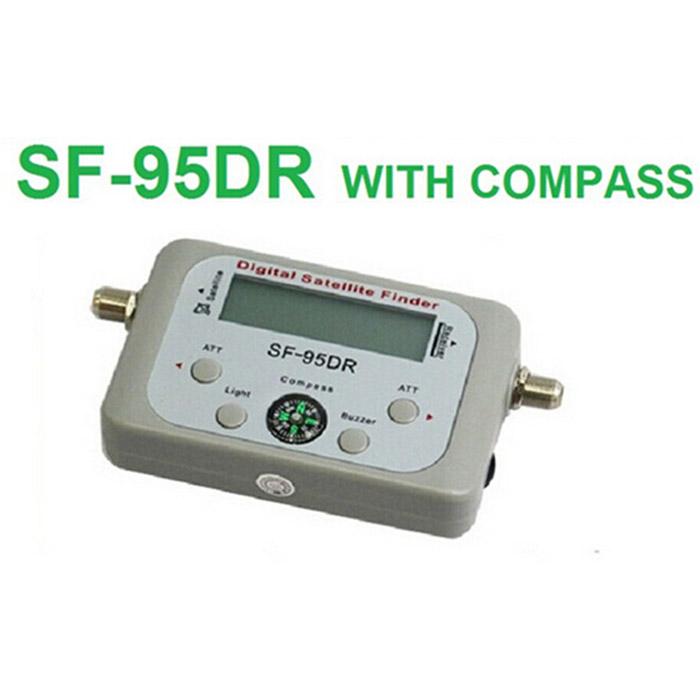 Original Satellite Signal Finder SF-95DR Satfinder Find Meter LCD DIRECTV Dish FTA Digital For TV Signal Finder free shipping(China (Mainland))
