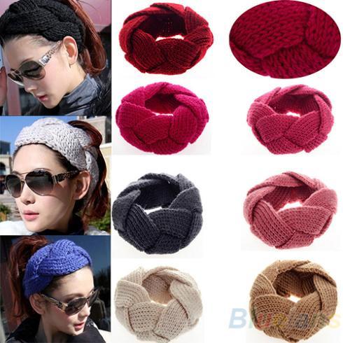 Fashion 1Pc New Crochet Twist Knitted Head Headband Winter Warmer Hair Band for Women Accessories 0JMF(China (Mainland))