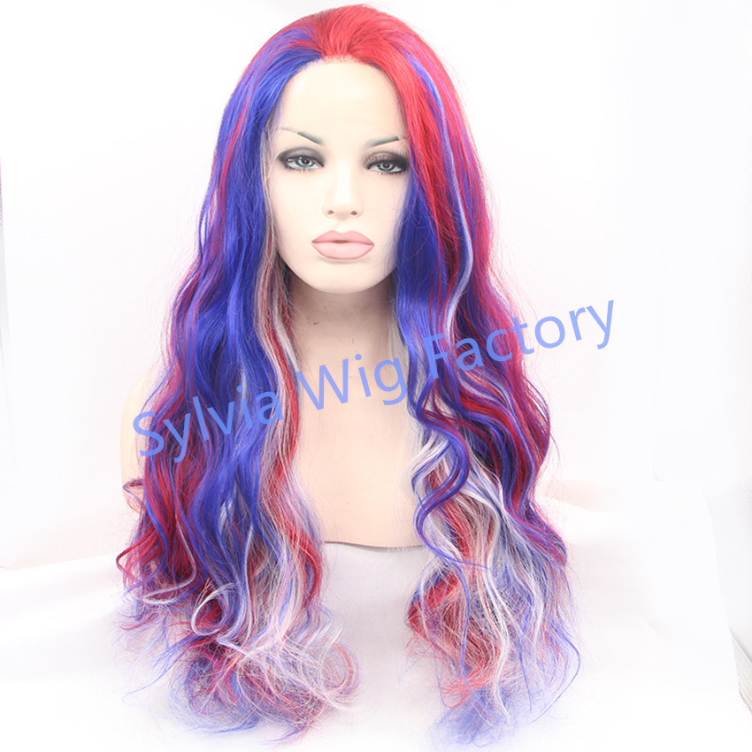 In stock Personality color ombre wig lace front wig temperature synthetic fiber wig FREE SHIPPING<br><br>Aliexpress