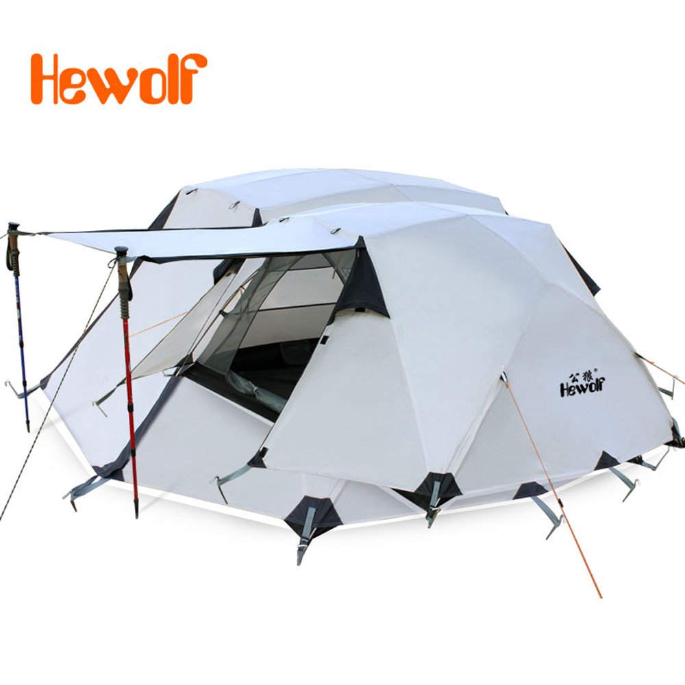 Aluminum Poles Double Outdoor Hiking C&ing Tent Windproof Waterproof Double Layer 4-Season Tent Ultralight  sc 1 st  AliExpress.com & Online Get Cheap Waterproof Ultralight Camping Tent -Aliexpress ...