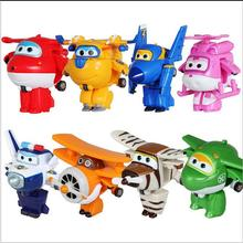 8 pcs Super Wings Action Figure Toys Mini Airplane Robot Superwings Transformation Anime Cartoon Toys For Children Boys Gift
