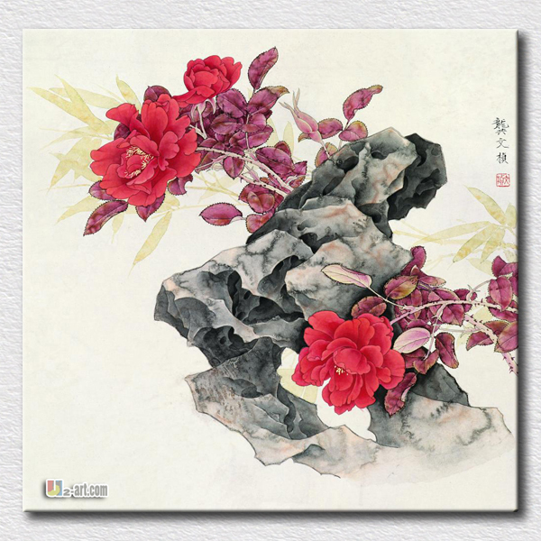Hot sell paper prints Chinese artist paint for modern living room decoration canvas pictures in china cheap(China (Mainland))