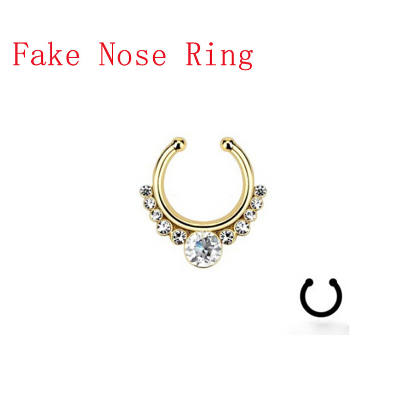 how to make a fake nose ring