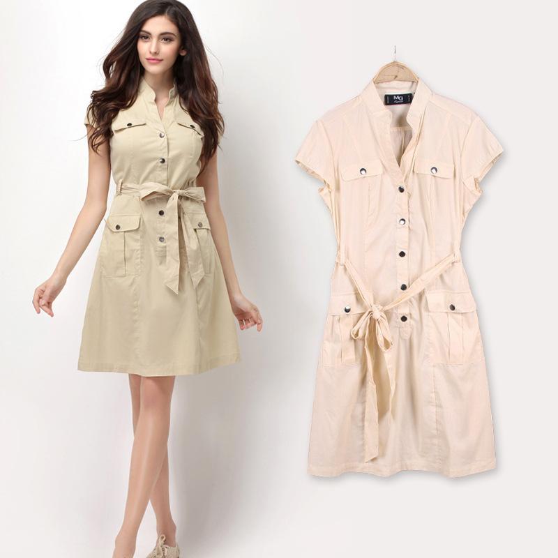 2015 Spring Summer Dress Women European Style Fashion Dress Female Casual Short Sleeve Dress New