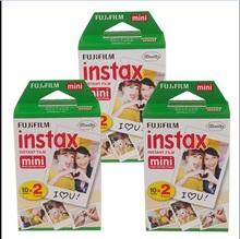High quality Original Fujifilm instax mini 8 film for 7S 25 8 50s 90 polaroid instant camera mini film white edage (60 sheets)