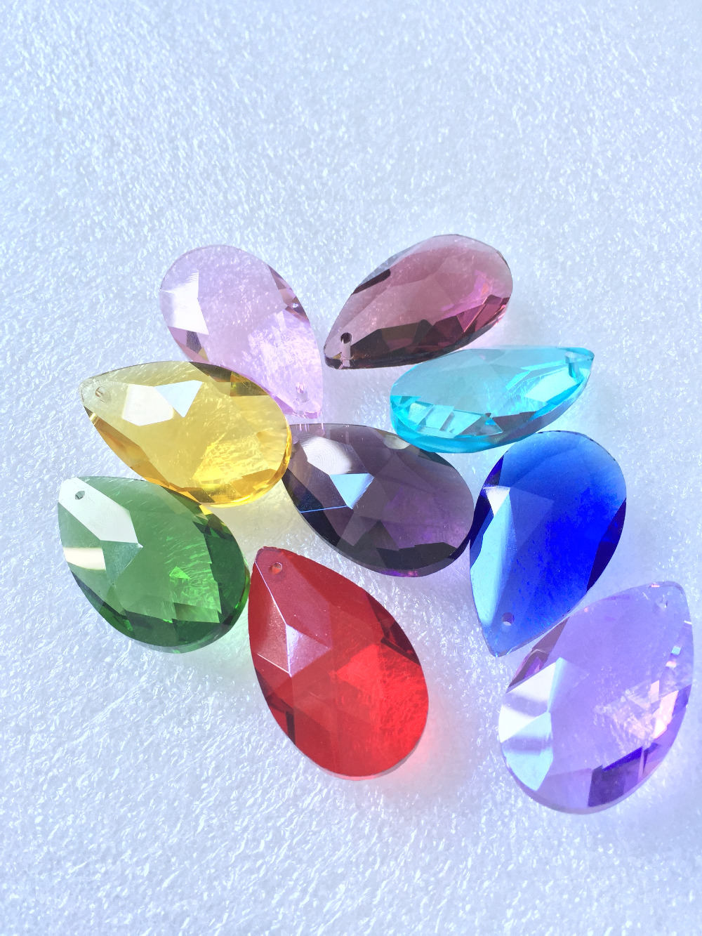 200pcs/lot 38mmx 22mm Mixed Colors ,Fashion Crystal Pear Shape Crystal Chandelier Pendants/Crystal Chandelier Parts,Best Selling<br><br>Aliexpress