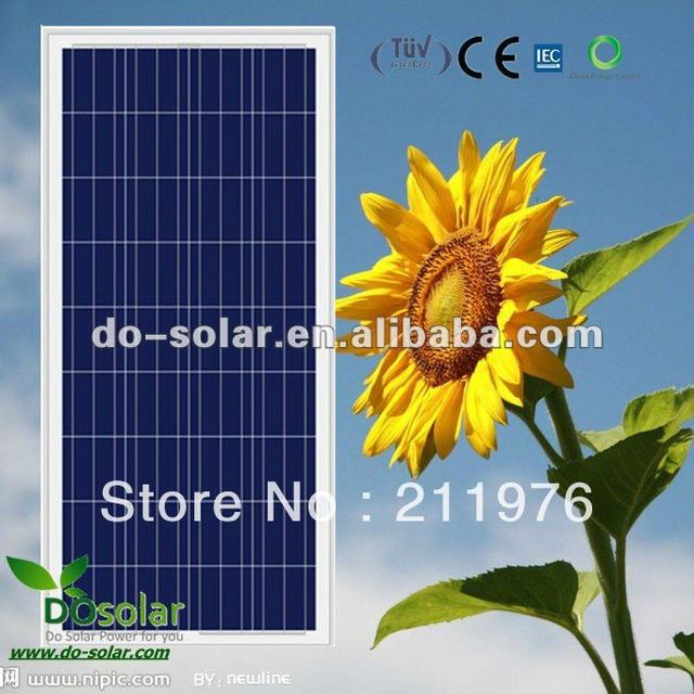 Free Shipping--130W POLY Solar Panel from China high quality poly 156 cells for solar street system in stock
