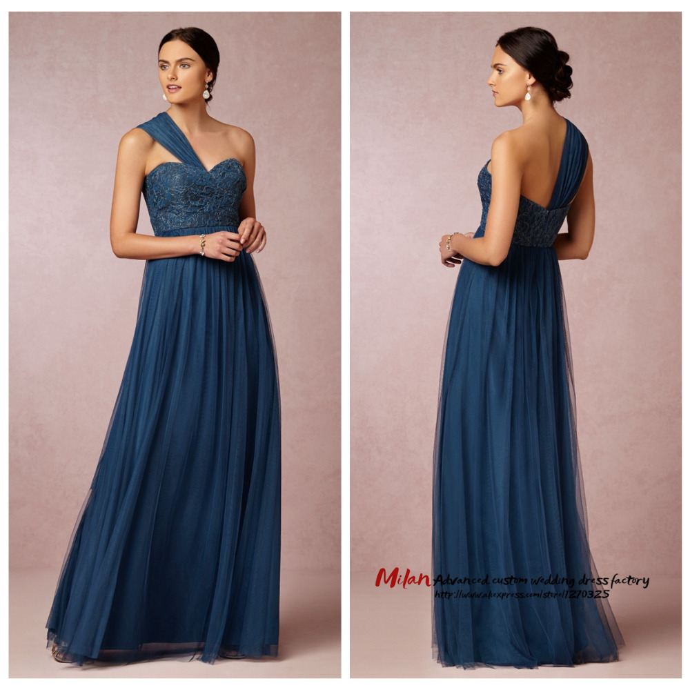 Bruidsmeisjes jurk 2016 new one shoulder bridesmaid dress for Dresses for wedding bridesmaid