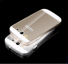 Luxury Frame Case Cover For Samsung Galaxy Galaxy S3 GT-I9300 Neo Hybrid Aluminum Metal +Acrylic Back Case Shockproof(China (Mainland))