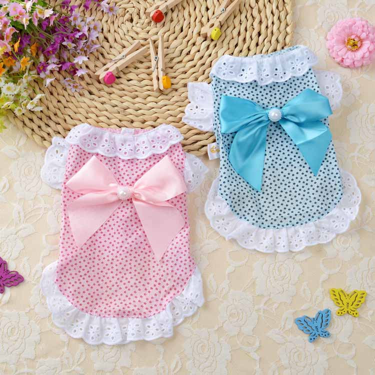 Summer New Cat Dog Clothes Puppy Dog Princess Dress Shirt With Nylon Lace Sexy Breathable Pet Clothing for Chihuahua Teddy XS S M L XL1