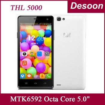 Original THL 5000 Thl 5000t Mobile Phone MTK6592 OctaCore Android4.4 5.0 inch 5000mAh Battery 13.0MP NFC WCDMA/Mary