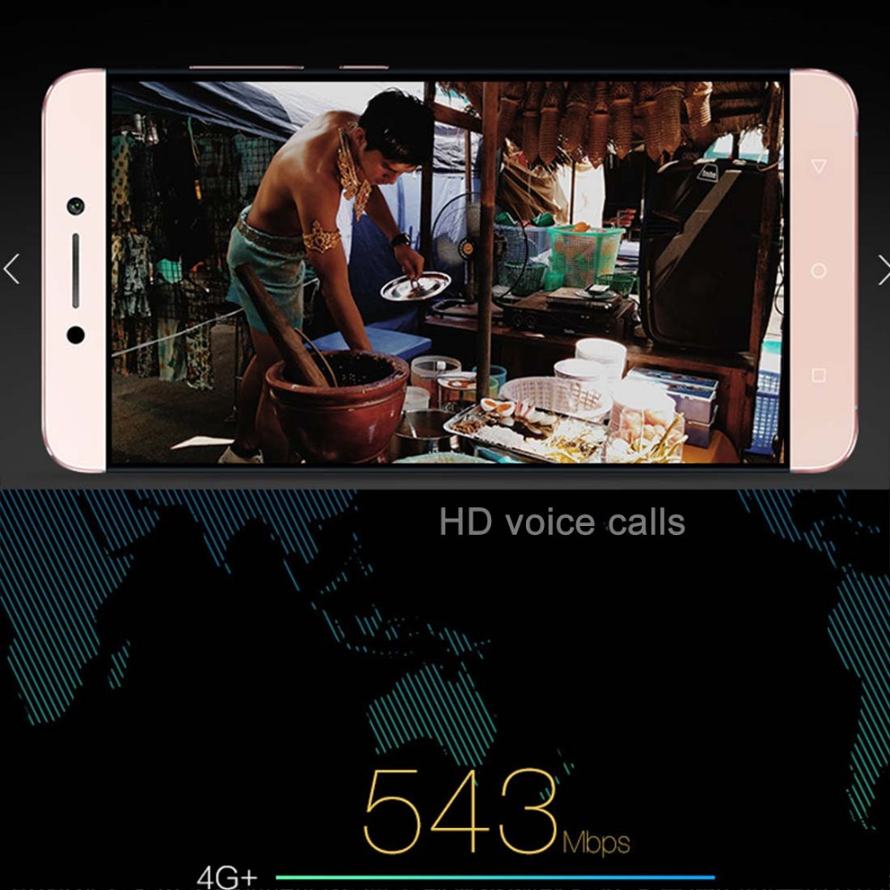 Original Letv Le Max 2 X820 Mobile Phone Quad Core 4GB RAM 32GB ROM Android 6.0 OS 5.7″ Screen 21.0MP Camera Touch ID Cell Phone