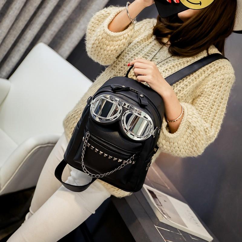 2016 cool sunglasses fashion women backpacks Korean rivet mini school bag backpack for youth lady College girls rucksack (12)