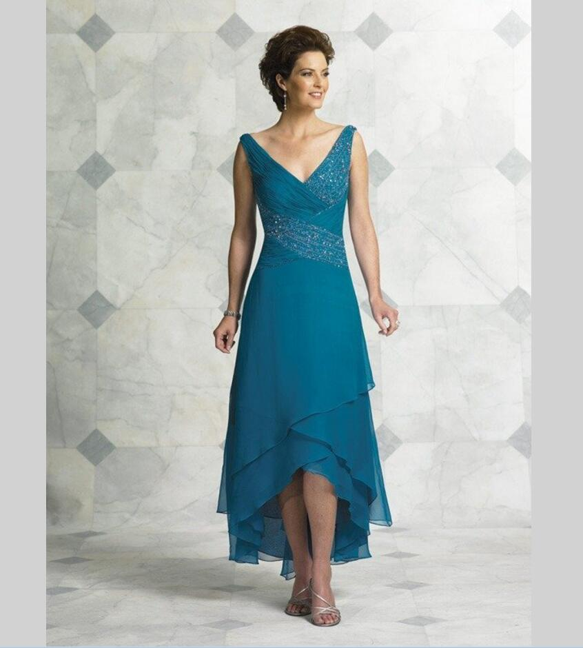 Awesome Mother Of The Bride Dresses Tea Length With Sleeves ...