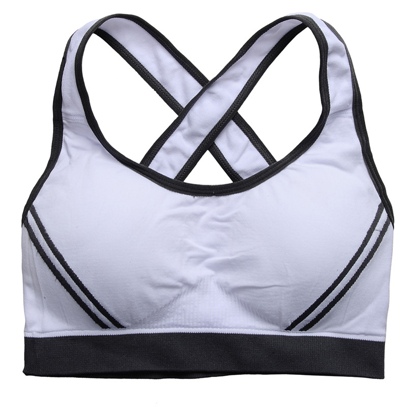HimanJie Himanjie Hot Selling Women Padded Bra Shockproof Push Up Wirefree Running Yoga Bra and sport girls