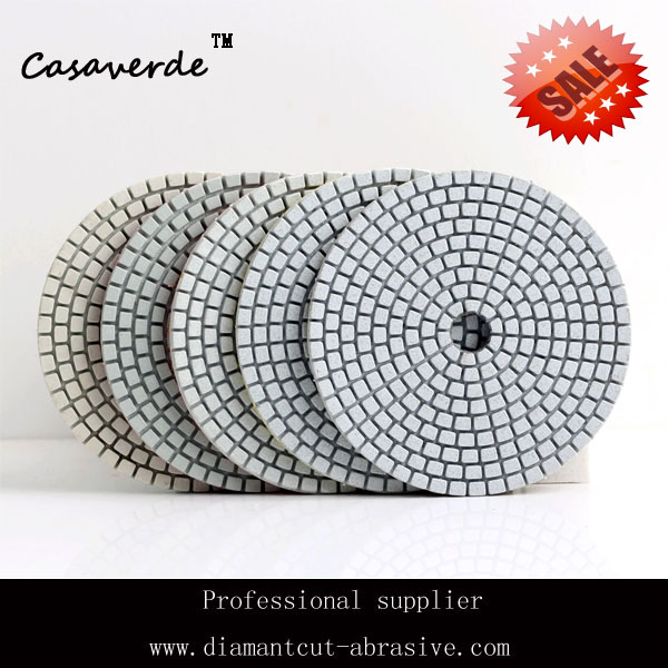 Free shipping 4 inch (100mm) dry and wet resin flexible diamond polishing pads match with angle grinder for polishing stone(China (Mainland))