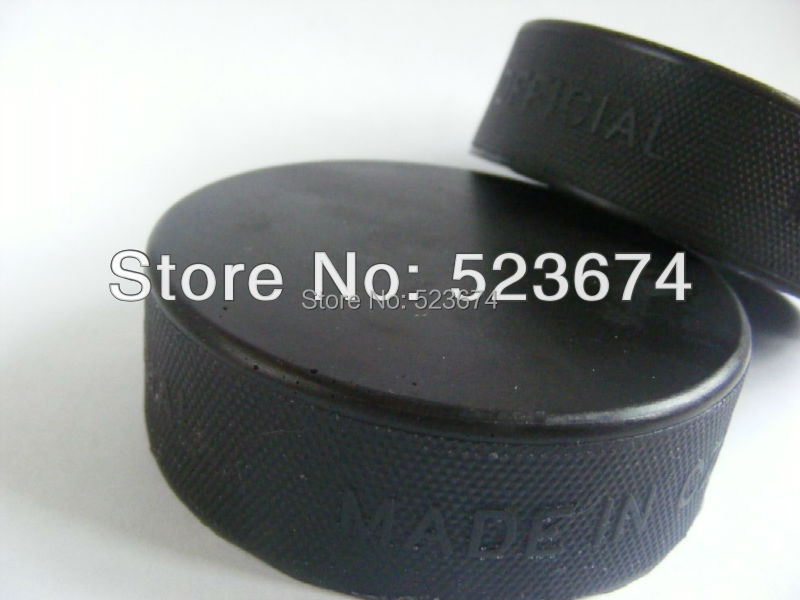 Free shipping 2pc custom hockey puck / rubber hockey puck without printing logo (156g~170g)(China (Mainland))