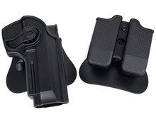 IMI DEFENSE Polymer Retention Roto Holster double magazine holster Fits Beretta 92/96/M9 one - Wargame Gear Store store