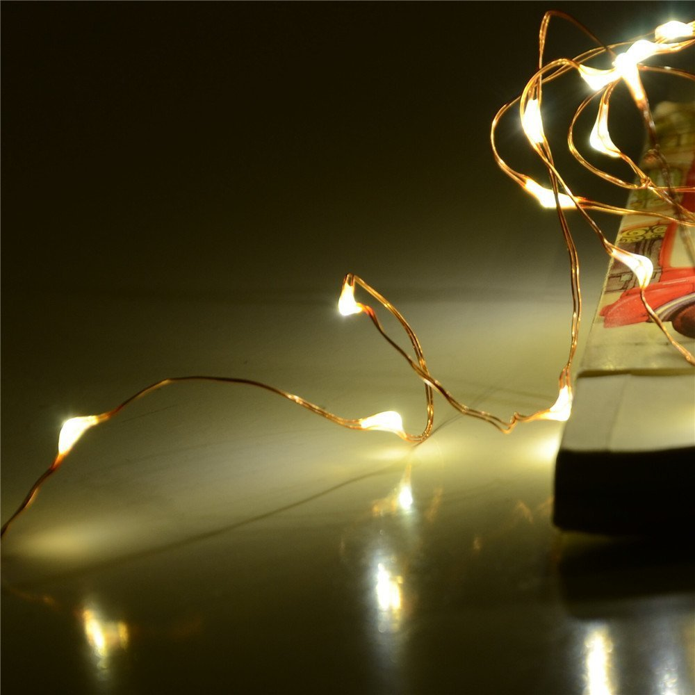 Led String Lights Wedding : 5M 50LED copper wire led string lights wedding fairy lights led rope lights 110V 220V Power ...
