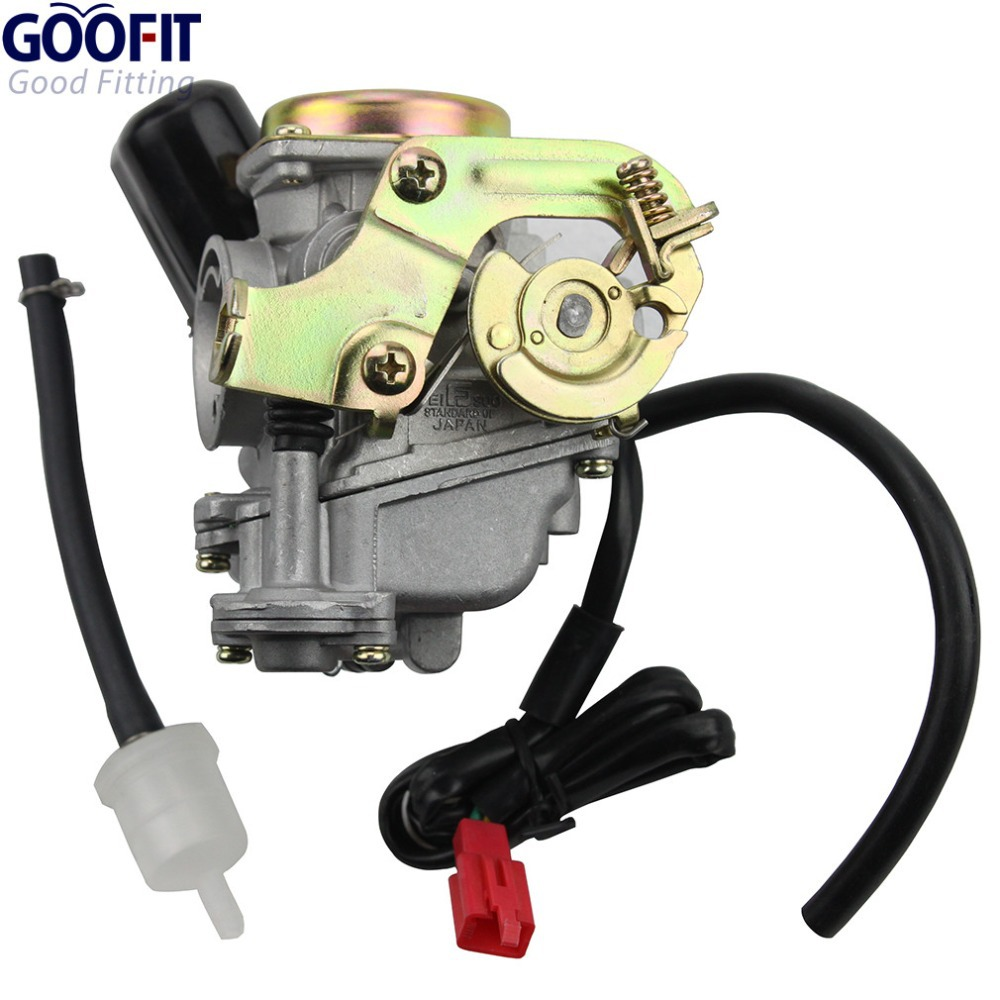 GOOFIT Carburetor for Scooter Carb font b GY6 b font 50cc 60cc 80cc Chinese 139qmb Moped