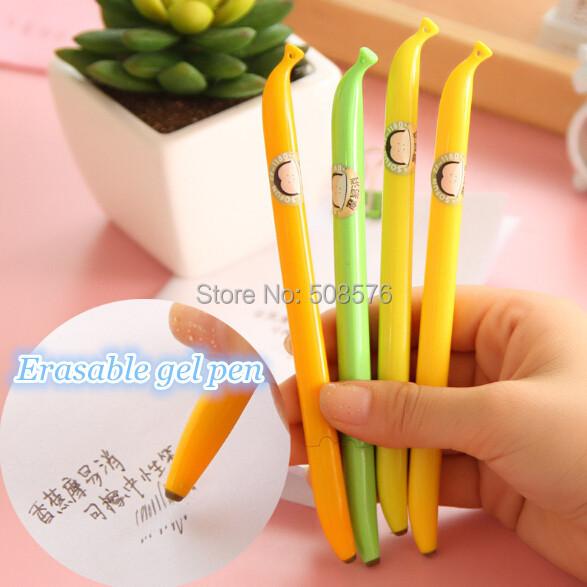 Wholesales Cute creative banana shape design erasable 0.5mm gel pen Black Ink promotion pen/Fashion Gifts/school supplies <br><br>Aliexpress