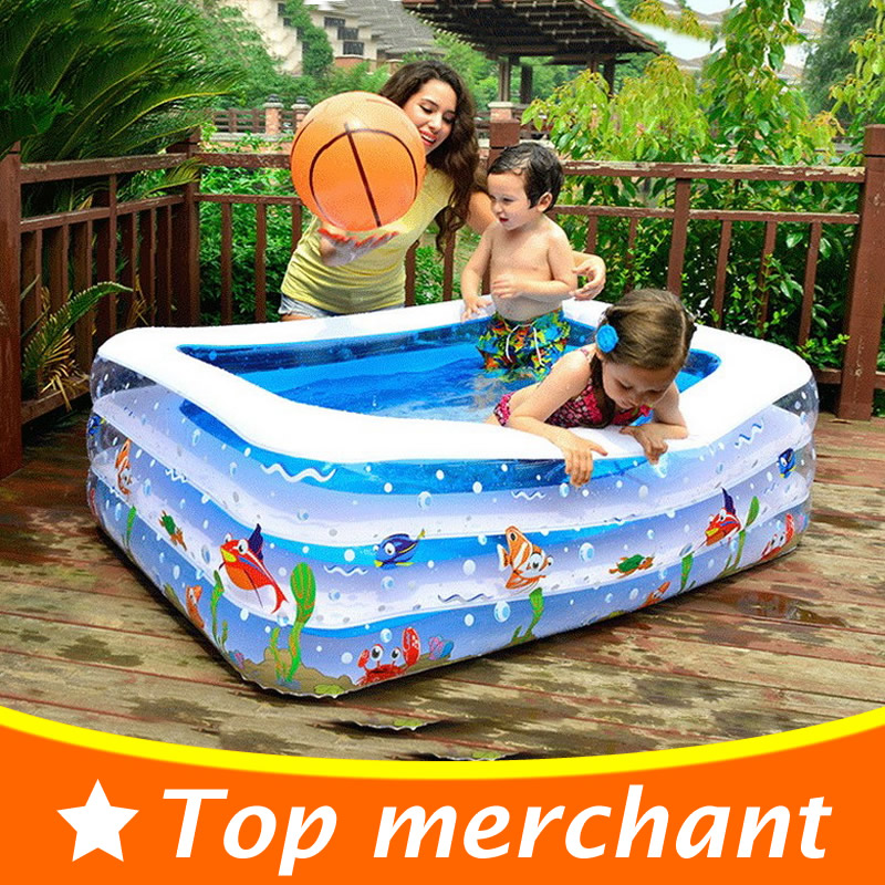 2016 Baby Swimming Pool Inflatable Pool Large Plastic Swimming Pools Square Inflatable Swimming Pool Children Basin Bathtub YP02(China (Mainland))