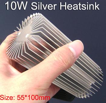 New WHOLESALE 5pcs/lot 10w LED Heatsink Aluminum Silver Round long