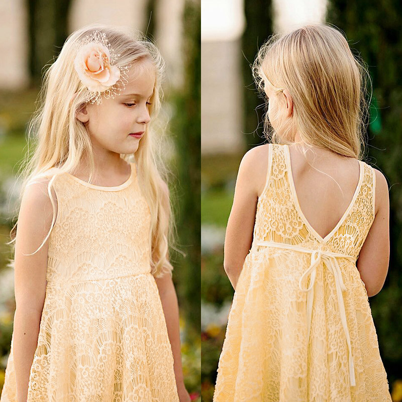 Hot 2016 New Fashion Girls Lace Dress Summer Backless Disfraces Infantiles Princesa Princess Sleeveless Robe Fille Enfant Q2510(China (Mainland))